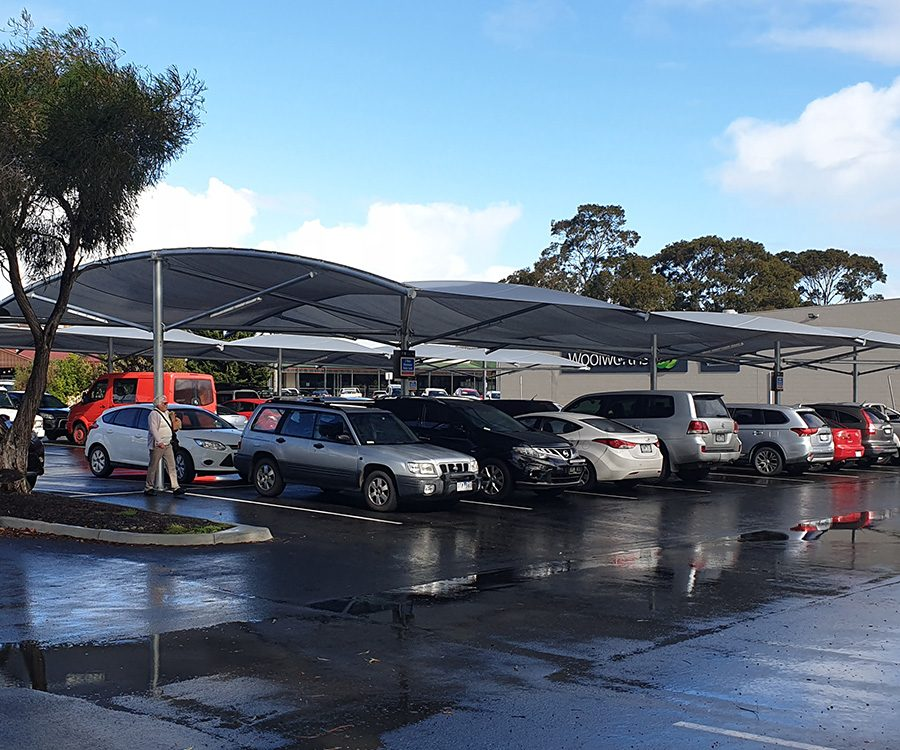 Car-park-shade-structure-woolworths-wonthaggi
