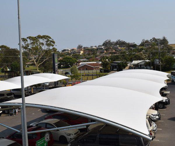 Car-park-shade-structure-woolworths-woolgoolga